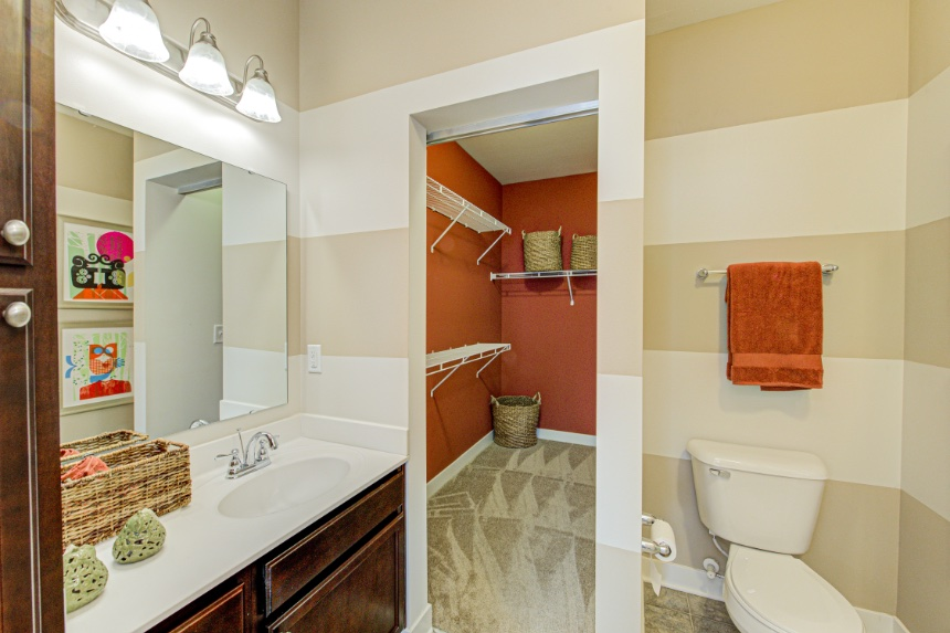 Model home bathroom in Brownsburg